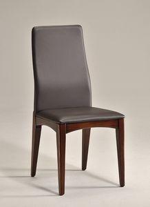 KARINA 2 silla 8478S, Silla de comedor en madera natural, diseño simple