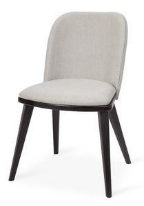 Lola S, Silla moderna en madera de haya, asiento y respaldo tapizados