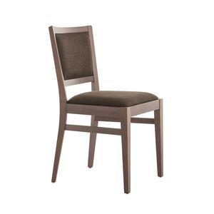 MP472G, Elegante silla de madera, acolchada