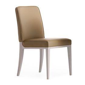 Opera 02211, Silla de madera maciza, asiento y respaldo tapizados, revestimiento de tela, estilo moderno