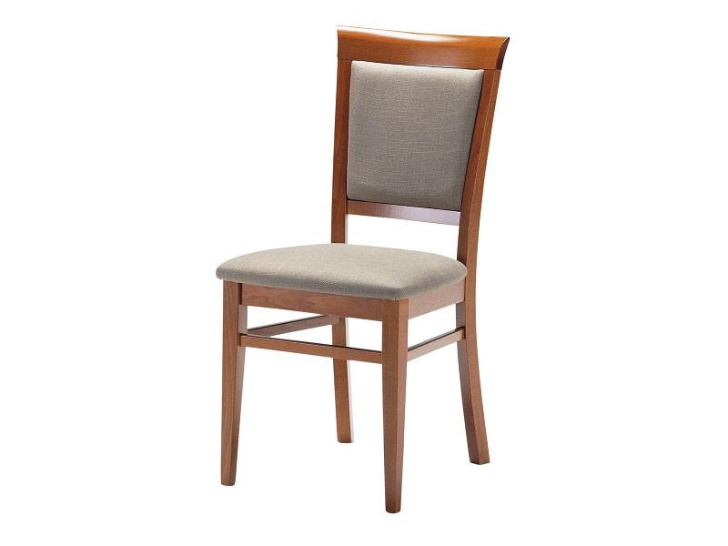 Sirai, Silla de madera con asiento acolchado y respaldo, para salas de estar