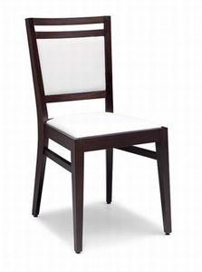 Solange, Silla de madera con asiento acolchado y la espalda