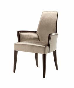 Vendome silla con brazos, Silla con brazos, tapizados, para uso contractual