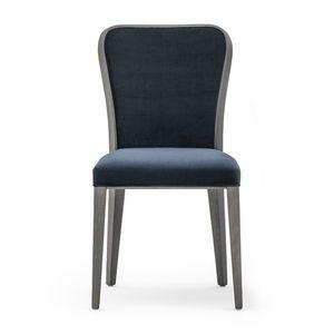 Wave 02711, Silla de madera refinada con asiento acolchado y respaldo