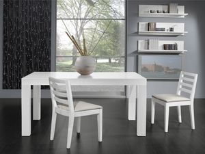 Complementos Silla 05, Silla con asiento acolchado y respaldo con lamas horizontales