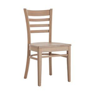 RP491, Silla de madera con asiento personalizable