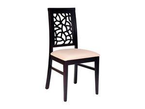 Samoa, Silla de madera, asiento tapizado, espalda perforada