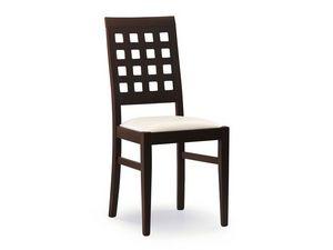 Sara, Silla con asiento acolchado, de nuevo con agujeros cuadrados