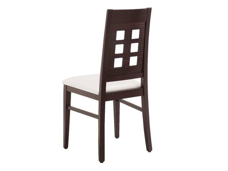 SE 490 / B, Silla de madera, asiento tapizado, respaldo con agujeros