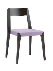 Us Cotton, Silla de madera para bar, silla con asiento tapizado para el hogar