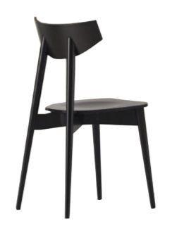Us Dayana, Silla Negro para la barra, silla con asiento tapizado para la cocina