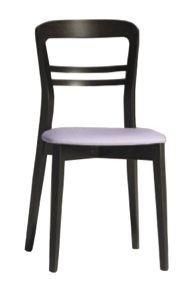 Us Minerva, Silla en madera de haya para la barra, silla con asiento tapizado para la cocina