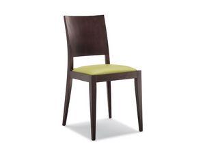 160, Silla de madera, asiento acolchado, para los restaurantes