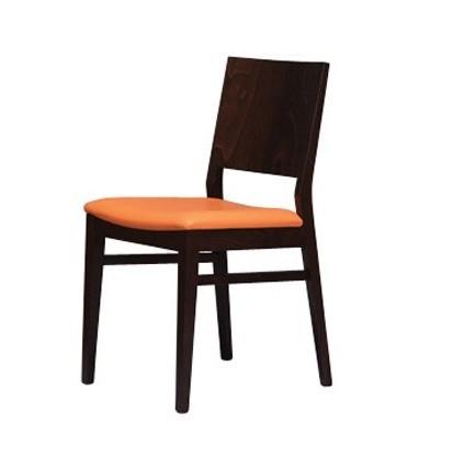 330, Silla elegante con un asiento tapizado, para la sala de desayunos