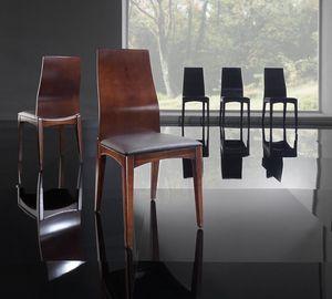 KARINA silla 8526S, Silla en madera de fresno y de poliuretano, para sala de estar