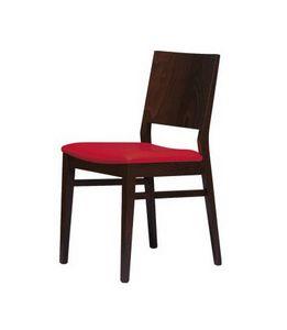 M01, Silla de haya con asiento acolchado, por contrato y uso doméstico