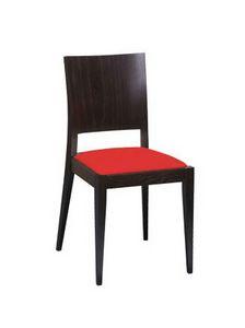 M15, Silla de haya, asiento tapizado, para el uso del contrato