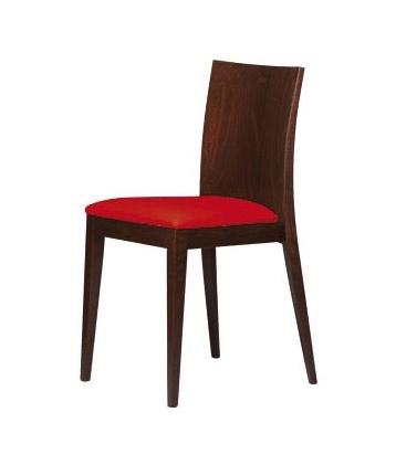 M16, Silla de madera, asiento acolchado, para bares y restaurantes