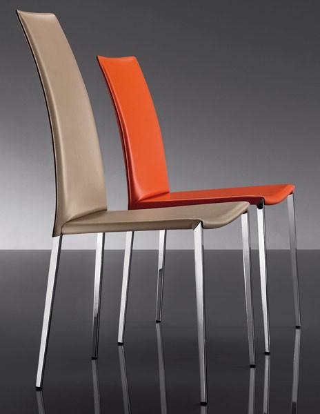 ART. 252 MISS, Tapizado de cuero sillas, estilo moderno, para el Hotel