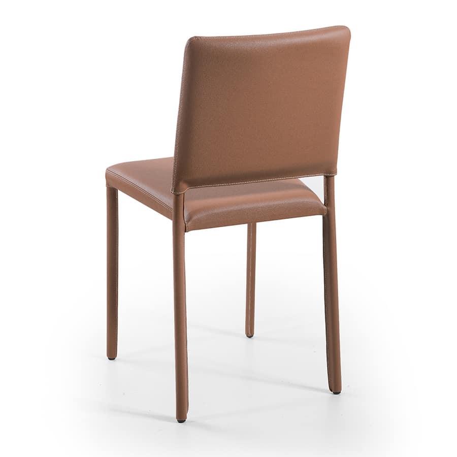 Jerry, Metálicas y de comedor de piel sillas apilables, resistentes al fuego