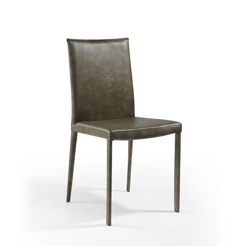 Jury low, Digning silla, acolchado en cuero, para el restaurante