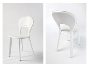 Lancio, Cena de la silla acolchada, en piel, para mobiliario naval