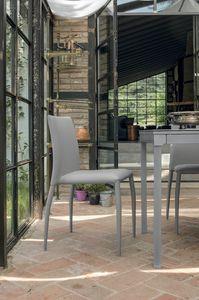 LILY SE610, Silla con tapicería de cuero ideal para la cocina y el bar