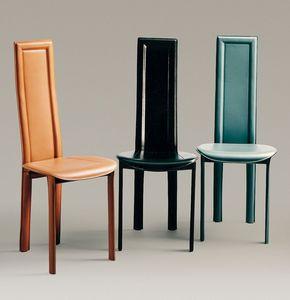 Linda, Silla de cuero, con asiento redondo, disponible en diferentes colores