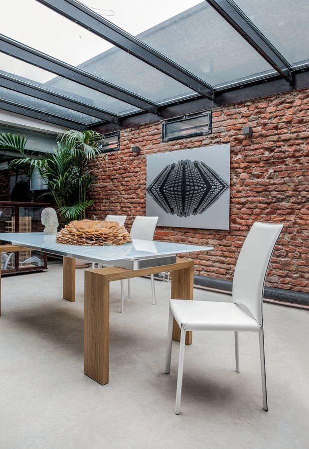 MADELEINE, Silla de cuero moderna, para la sala de reuniones y restaurantes