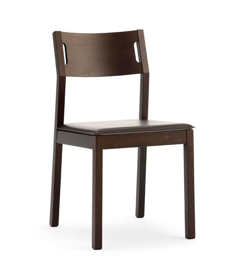 Moijto, Silla de madera sin apoyabrazos, asiento de cuero