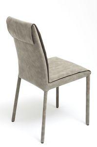 Nancy, silla cubierta con nobuck, disponible en varios colores y dos alturas