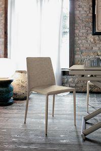 NIZZA SE603, Silla moderna tapizada en cuero para cocinas y bares