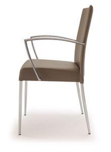 PL 621, Silla de acero, tapizada en piel sintética, para el uso del contrato