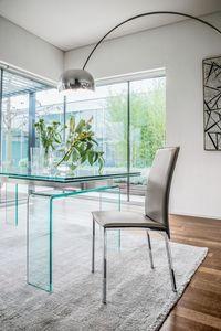 PLAZA, Silla moderna de metal y madera para el comedor