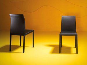 Rose high, silla moderna tapizada con espuma de caucho ignífugo
