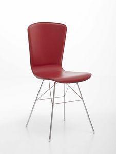 Vichy, Silla de acero cromado con asiento tapizado de cuero