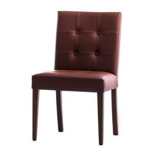 Zenith 01619X, Silla de madera maciza, asiento acolchado y respaldo tapizados, tapicería de cuero, para los comedores