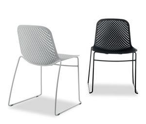 I.S.I. Chair, Silla apilable con carcasa de plástico