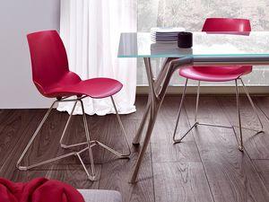 Kaleidos 3, Silla en metal y pol�mero reciclable, para Office