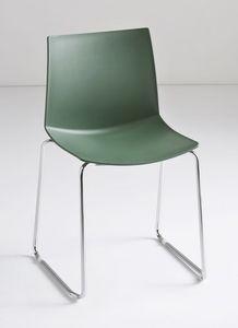 Kanvas ST, Deslice silla apilable, cáscara de tecnopolímero