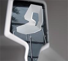 Prodige NA, Silla mínima en metal y polímero, perforado de nuevo