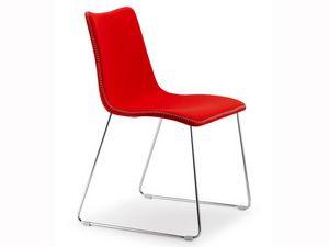 Zebra Pop, Diseño de la silla tapizada con patín, revestimientos variuos