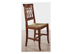 157, Rústica silla, volver trabajado, para el salón