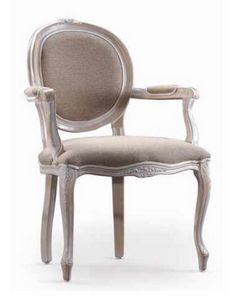 Ginevra-P, Silla con brazos para muebles clásicos