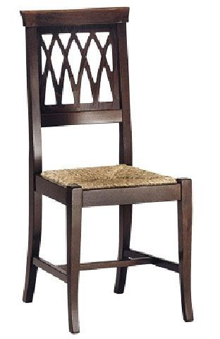 SE 157, Robusta silla de comedor, de madera, de estilo rústico