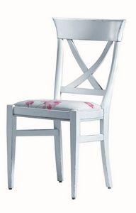 Annie BR.0211, Silla de lacado, asiento tapizado, sin apoyabrazos