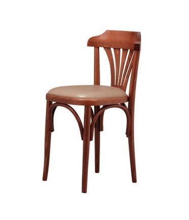 B03, Silla de haya con asiento acolchado, para bar de vinos