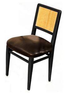 Liliane BR.0201, Silla en madera de nogal, asientos de cuero