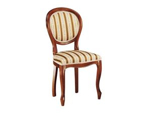 113, Silla de comedor, hecho de madera con asiento tapizado