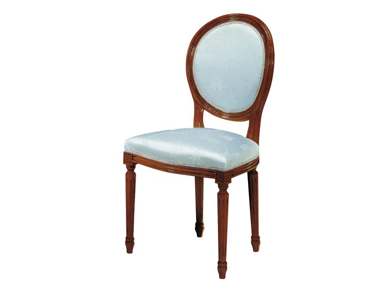 135, Silla de madera, asiento acolchado y respaldo, para los comedores
